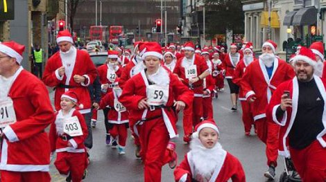 Santa Run fundraiser for Meningitis Now