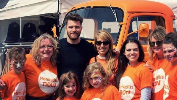 Celebrity Joel Dommett supporting Meningitis Now
