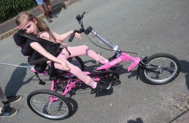 Meningitis Now Rebuilding Futures Fund awards Aimee with trike