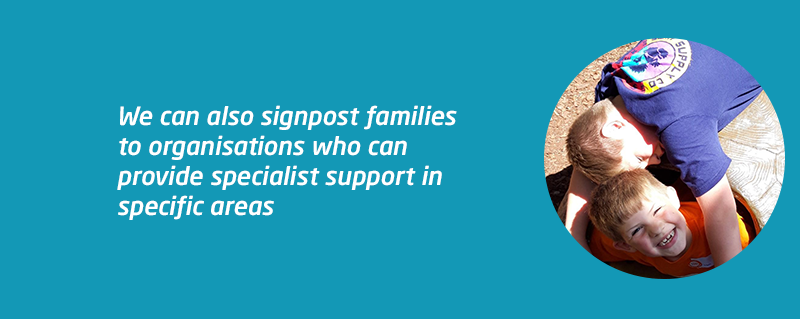 Signposting support after Liam's acquired meningitis brain injury