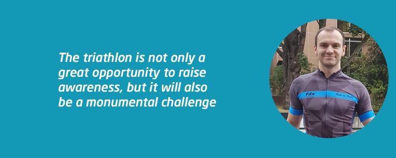 Simon Wade triathlon fundraising challenge