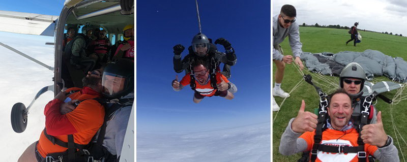 Skydive for Meningitis Now after Rafe's recovery