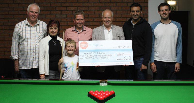 Snooker fundraiser for meningitis