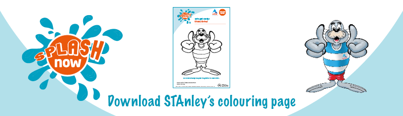 Splash Now download link graphic - STAnley colouring
