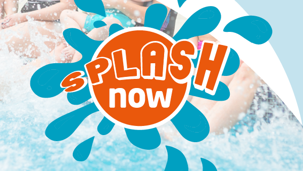Meningitis Now fundraising event Splash Now link box with logo
