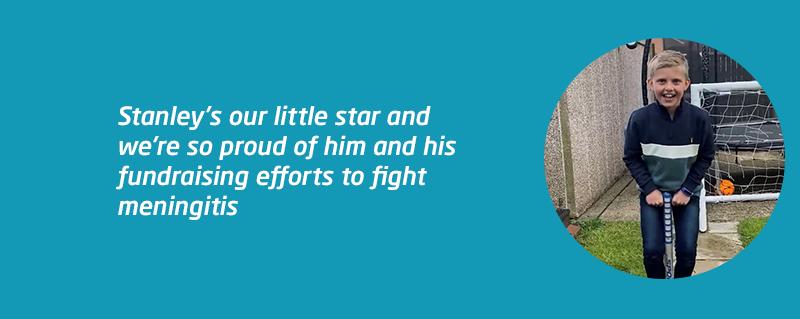 Stanley Captain Tom 100 fundraising pogo challenge for Meningitis Now