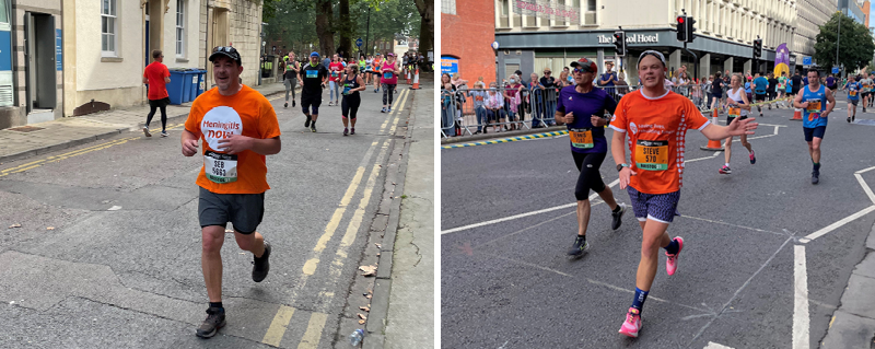 Steve Dayman's sons run Bristol Half Marathon for Meningitis Now