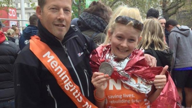 Steve and Onor London Marathon for Meningitis Now blog