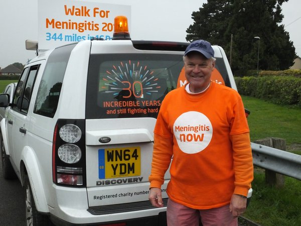 Meningitis Now founder Steve's fundraising walk
