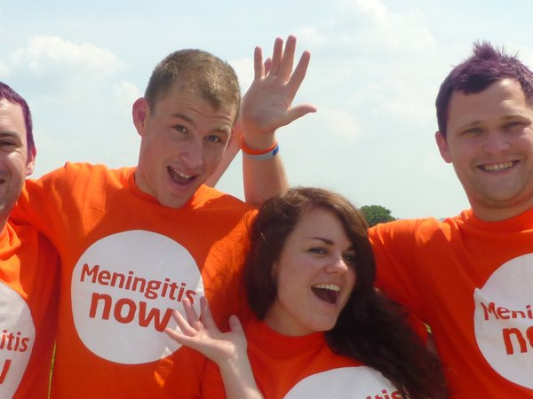 Meningitis Now supporters cheering