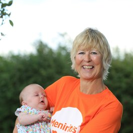Meningitis Now founder Jane Wells and granddaughter Daisy