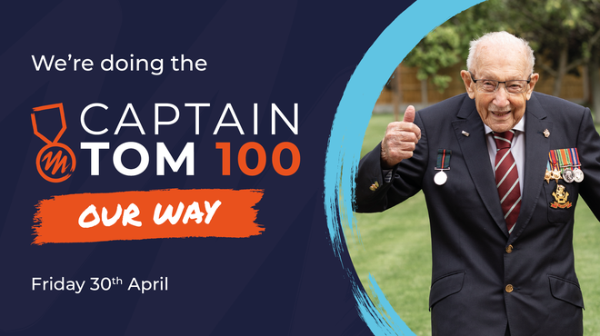 Take on Captain Tom 100 Challenge for Meningitis Now