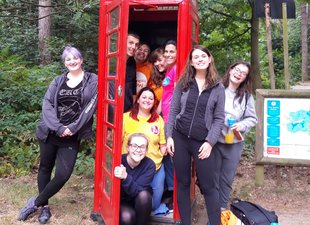 Meningitis Now Believe & Achieve residential weekend - Fight for Now - Telephone box