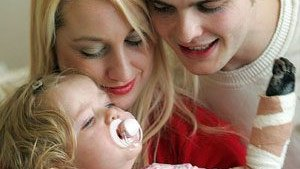 Meningitis survivor and amputee Tilly with mum Sarah Lockey