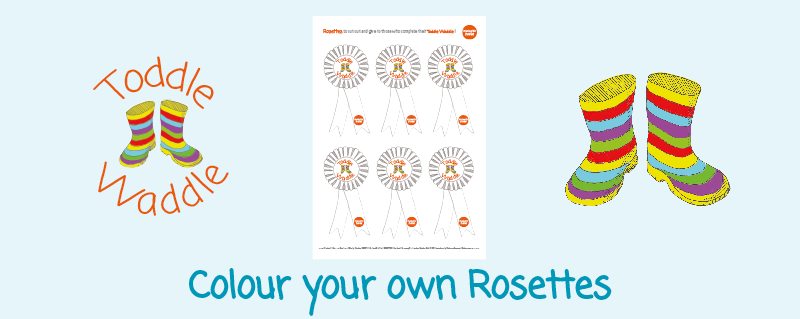 Toddle Waddle - Download link - Colour your own Rosettes