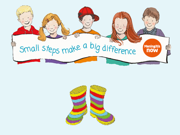 Meningitis Now fundraising event Toddle Waddle - Link box - Meet our characters