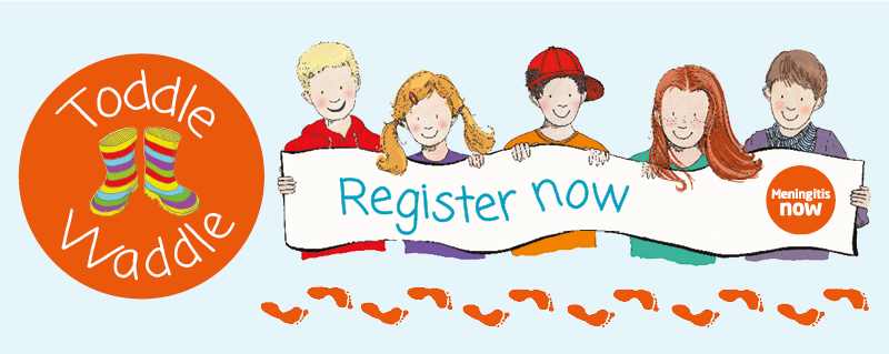 Meningitis Now fundraising event Toddle Waddle - Register Now