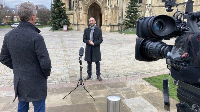 Tom BBC interview - Meningitis Now virtual Christmas concert
