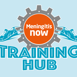 Meningitis Now Events Training Hub Logo - blue