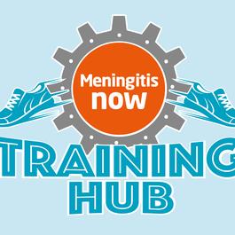 Meningitis Now Events Training Hub Logo - blue