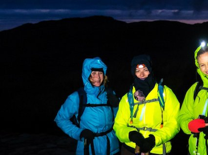 Meningitis Now fundraising event Trek Snowden by Night lb