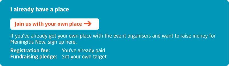 Meningitis Now fundraising event - Virtual London Marathon - Sign Up - own place