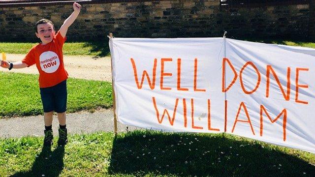 William smashes marathon target for Meningitis Now