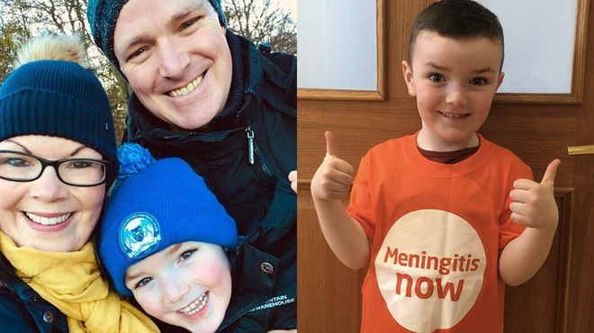 Meningitis survivor William takes on a fundraising marathon