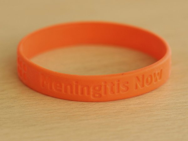 Meningitis Now fundraising support - Wristbands