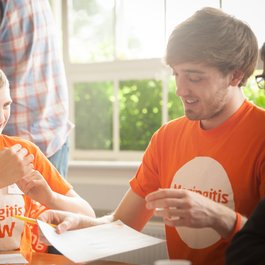 Meningitis Now Young Ambassador day - Ross and Matt
