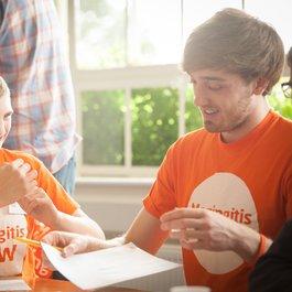 Meningitis Now Young Ambassador day - Ross and Matt