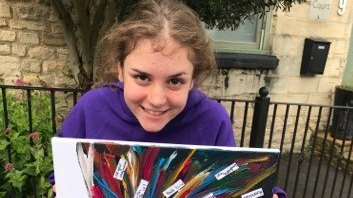 Isabella's art therapy post meningitis