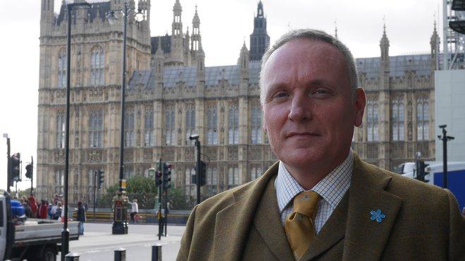 Paul Gentry campaigning for Meningitis Now