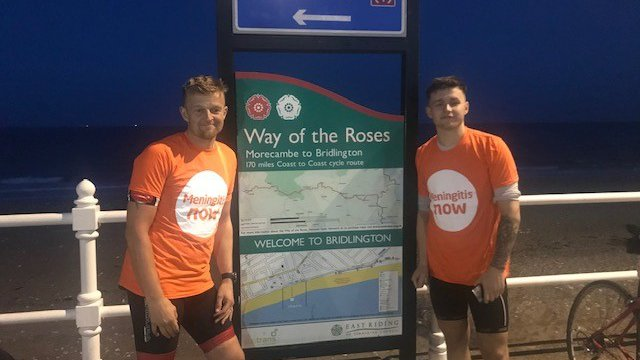 Coast to coast fundraising cycle for Meningitis Now
