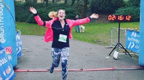 Meningitis miracle baby Emily runs London Marathon to fundraise