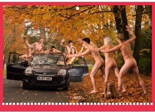 Bristol Uni RAG fundraising for Meningitis Now with naked calendar
