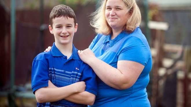 Dean playing football months after bacterial meningitis