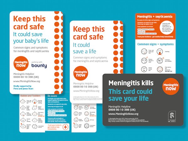 Meningitis Now signs and symptoms cards graphic