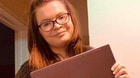 Meningitis Now's COVID-19 Young Futures Fund awards laptop to Sophie Styles